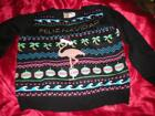 "MERRY CHRISTMAS HOLIDAYS PINK FLAMINGO ""FELIZ NAVIDAD"" UGLY SWEATER S, M, L"