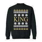Ugly Sweater King Crown Snowflakes Unisex Crewneck Funny Christmas Sweater