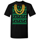 Ugly Sweater Gold Chain Leaf Men's T-shirt Funny Christmas Tee