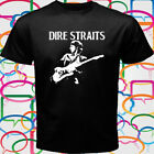 Dire Straits Rock Band Legend Men's Black T-Shirt Size S to 3XL image