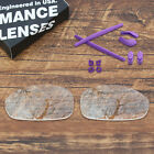 T.A.N Polarized Replacement Lens & Purple Rubber Kit for-Oakley Juliet Sunglass