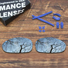 T.A.N Polarized Replacement Lens & Blue Rubber Kit for-Oakley Juliet Sunglasses
