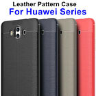 Luxury 3D Litchi Leather TPU Case fr Huawei Mate10 P10 Y7 Y5 GR5 2017 Soft Cover
