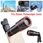 12X Zoom Optical Clip-on HD Telescope Phone Camera Lens For Samsung Smart Phones