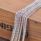 10meters Crystal Rhinestone&Brass Alloy Glass Claw Cup Chain Trims Wholesale DIY