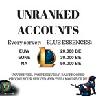 League of Legends unranked account EUW EUNE NA with a lot of IP / blue essences