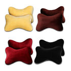 2x Universal Warm Plush Car Seat Headrest Head Neck Support Pillow Soft Cushion