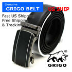 New Fashion Genuine Leather Mens Automatic Click Buckle Waist Comfort Strap Belt