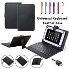 """US For 9.7"""" 10"""" 10.1"""" inch Tablet Micro USB Keyboard Leather Case Cover +Gift WQ"""