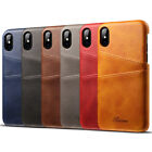 New Luxury Leather Back Hard Card Slots Cover Case For iPhone X 10 8 7 6 6S Plus