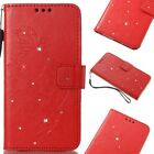 Diamond Pattern Bling Leather Wallet Stand Phone Case Cover For Various Phone