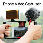"""Handheld 4""""-7"""" Phone Mic Camera Stabilizer Holder Frame For iPhone 8 8 Plus X"""