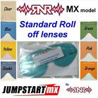 Rip N Roll MX Model Goggle Roll Off Lens Clear Blue Yellow Smoke  Pink Orange