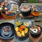 Cleaning bbq grill plates - Portable BBQ Charcoal Grill  Barbecue Smokeless Round Garden Indoor Outdoor