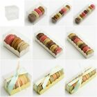 Clear Macaron / Macaroon Boxes Plain or Inserts Favour Gift Boxes (Box Only)