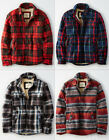 American Eagle AE Men Faux Sherpa Lined Plaid Flannel Shirt Workwear Jacket NWT