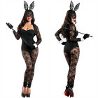 Sexy Lingerie Black Lace Play Bunny Fancy Dress Costume Outfit Hen Party Cosplay