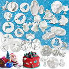 Christmas Cake Cutter Fondant Icing Tool Sugarcraft Decorating Mould Set Tool