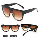 Black Leopard Flat Top Oversized Shadow Shield Women Ladies Sunglasses Shade <br/> ✅3.9K+ SOLD TOP QUALITY!!!✅Same Day Dispatch/Free RM24