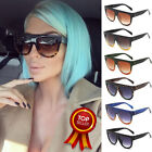 Flat Top Oversized Shadow Shield Women Designer Inspired Celebrity Sunglasses