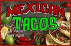 Mexican Tacos DECAL (Choose Your Size) Food Truck Concession Vinyl Sign Sticker