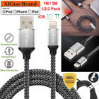 Braided Lightning USB Cable 3/10FT Sync Data Charger For iPhone X 8 7 6S Plus SE