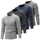 New Men's Casual Round Neck Fashion Knit Sweater Pullover Knitwear Jumper Tops