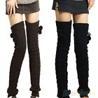 Im- Comely Womens Lady Crochet Knitted Stocking Leg Warmers Boot Thigh High Sock