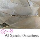 Gorgeous 25mm Wired Edge SILVER Mesh Lame Ribbon - Perfect for Christmas