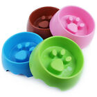 EP_ Creative Raised Paw Cat Dog Pet Feeding Bowl Water Dish Slow Down Feeder Hea
