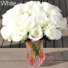 EP_ Large Bouquet 24 Heads Fake Rose Faux Flowers Wedding Party Home Decors Beam