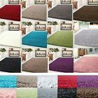 SMALL AND LARGE SHAGGY RUGS BEDROOM LIVING ROOM THICK PLAIN SOFT PILE ANTISKID