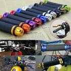 "BLACK MOTORCYCLE 7/8"" HAND GRIPS HANDLE BAR GEL FOR YAMAHA YZF 600 R1 R1M R6 R6S image"