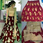 Indian Lehenga Choli Ethnic pakistani Bollywood Wedding Bridal Party Wear Dress