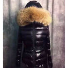 Real Raccoon Fur Jackets Duck Down Coat Women Parka Outwear Trench Puffer Hooded
