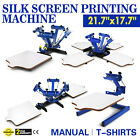 1/4 Color Silk Screen Printing Machine Cutting Printer Carousel Printing Manual