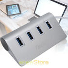 Type-C Aluminum USB 3.0 HUB 5Gbps High Speed AC Power Adapter For PC Laptop Mac