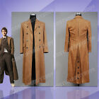 Who is Doctor Dr.Cosplay Costume Brown Outfit Trench Coat Business Suit Wool