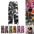 Mens Women Military Army Cargo Pants Work Camping Fishing Loose Camouflage Pants