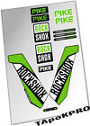 Brand New Custom Rock Shox Pike fork 27.5 29 glossy stickers kit decals pack set