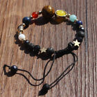 Hot Sale Bracelet Galaxy Solar System Eight Planets Theme Natural Stone Beaded