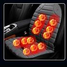 Electric Car Seat Heated Chair Back Body Massage Cushion Winter Heat Cover Pad