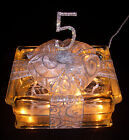 5th Fifth Wedding Anniversary Glass Block Light - Unique Gift for 5 Years!