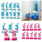 "32"" Giant Foil Balloons Number Shape Helium 1st Birthday Baby Shower Party Decor"