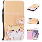 For iPhone Galaxy Flip Stand PU Leather Wallet Phone Case Cover Patterned