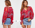 FREE PEOPLE  XS  Beneath The Sea Top Red New Tags