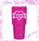 Monogram  Decal Vinyl Sticker For Tumblers, Cups, Heart ,name & Initial