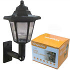 Solar Powered Traditional Outdoor Wall Light Lantern - Single or Pair available