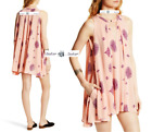 FREE PEOPLE Sz  LARGE  Tree Swing Sleeveless PINK Top New Tags tj