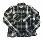 NWT VANS OTW WOMENS DAISY CROP BLACK FLANNEL SHIRT TOP SZ SM